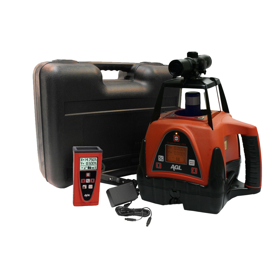 Agl Lasers Gradoplane 25x Dual Grade Laser Level With